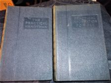 2 VINTAGE HB BOOKS ILLUSTRATED PRACTICAL INFORMATION FOR ALL PRACTICAL HANDYMAN